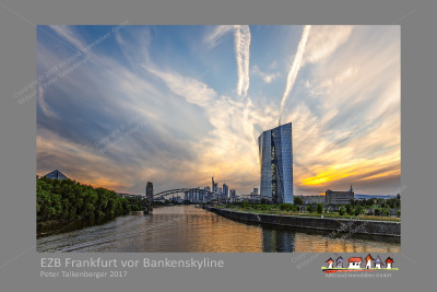 European Central Bank in front of banking world in Frankfurt