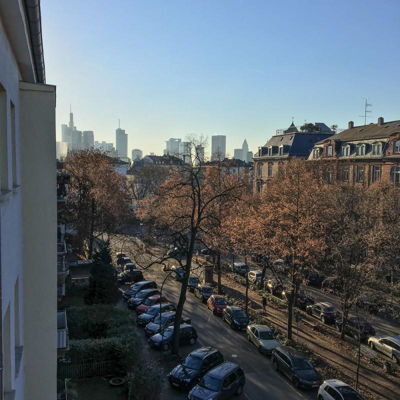 View of Frankfurt from loft apartment
