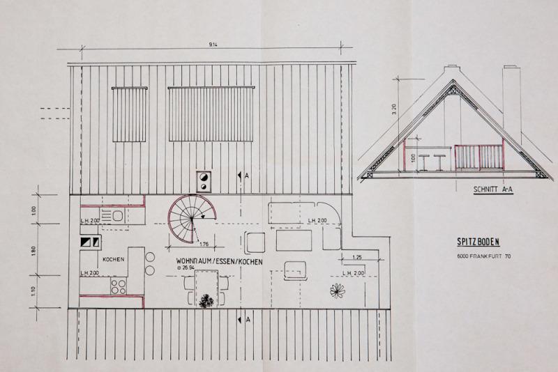 Entwurf Neuplanung Dachgeschoß