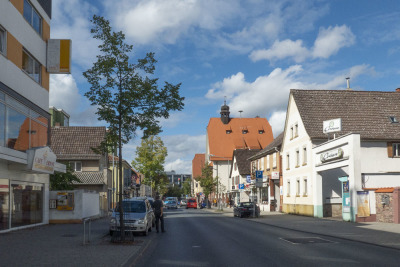 The main street in Dreieich - typically shopping and living