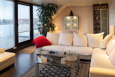 Fantastically beautiful penthouse apartment with roof terrace