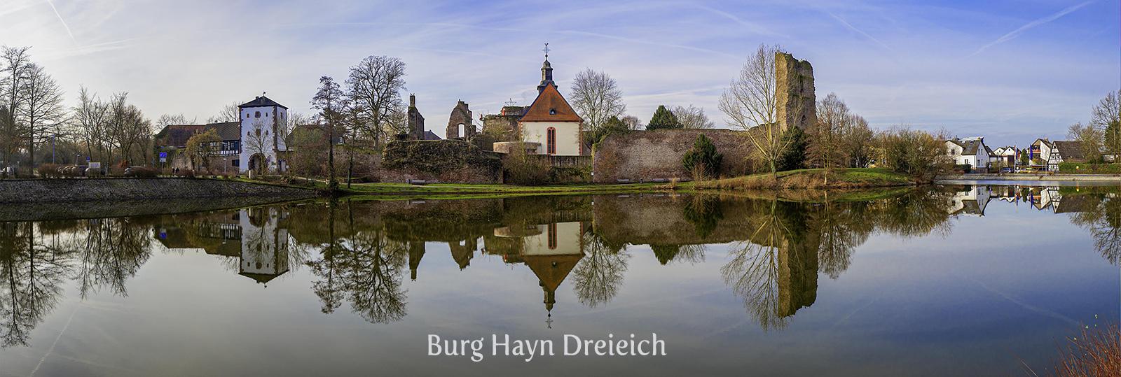 Castle ruin Burg Hayn in Dreieich is a magnet